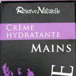 Réserve Naturelle, la crème hydratante pour les mains