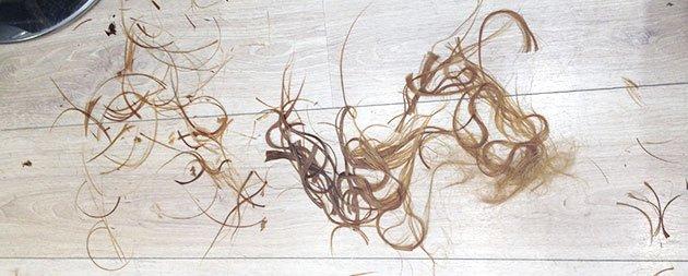 longueur cheveux coupés