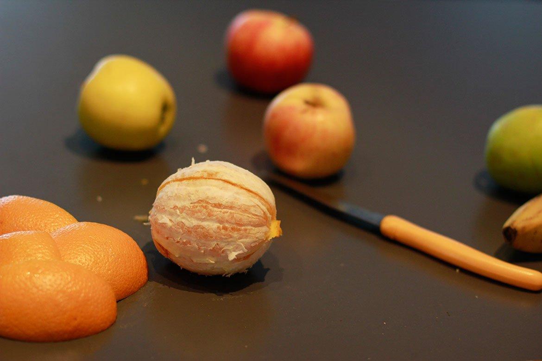 Fruits sur plan de travail