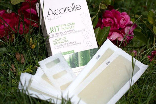 Acorelle Kit Epilation Complet bandes de cire froide