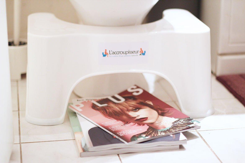 Accroupisseur - Tabouret de Toilettes et magazines