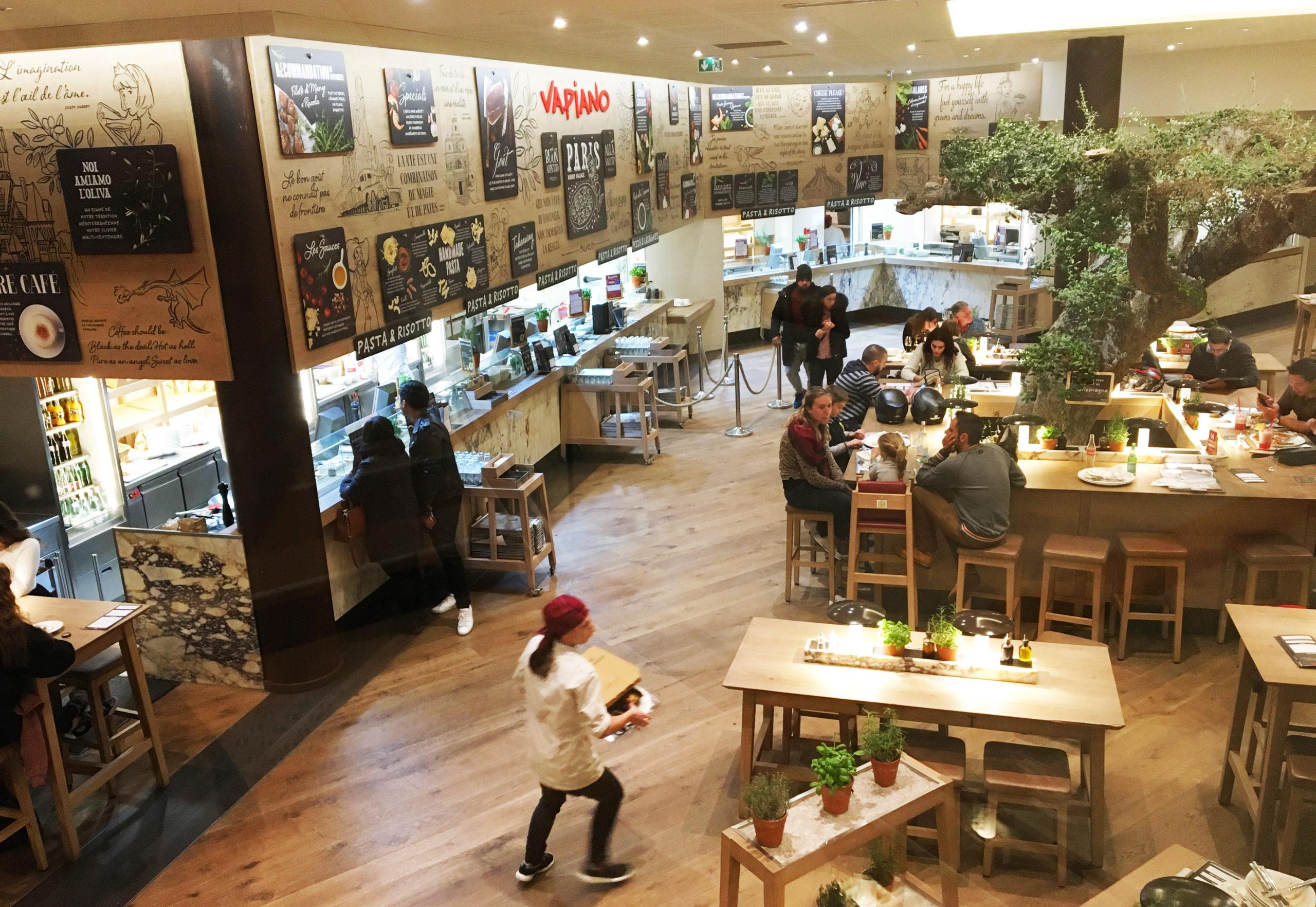 Salle restaurant Vapiano Disney