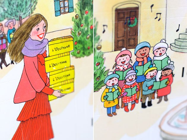 Illustrations Kanako Calendrier L'Occitane