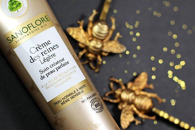 Crème des Reines Sanoflore produit de beauté et abeilles