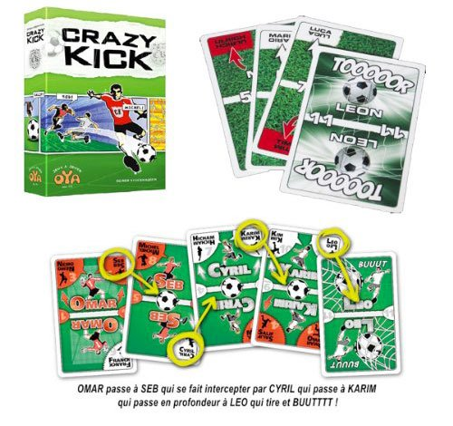 Crazy Kick jeu de cartes