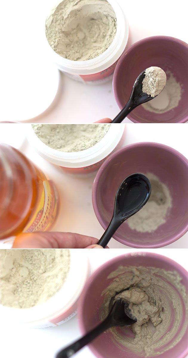 préparation de masque à l'argile Indian healing Clay
