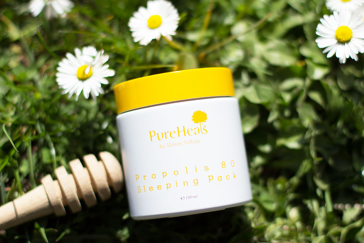 Pot sur herbe de Sleeping Pack Pure Heals - Propolis