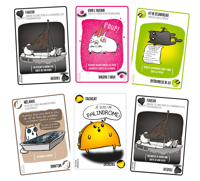 Exploding Kittens jeu de société cartes
