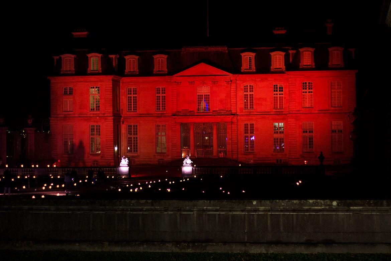 Château de Champs-sur-marne illuminé aux bougies Grand Réveillon