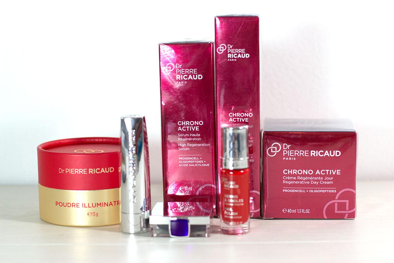 Dr Pierre Ricaud produits Chrono-Active et maquillage