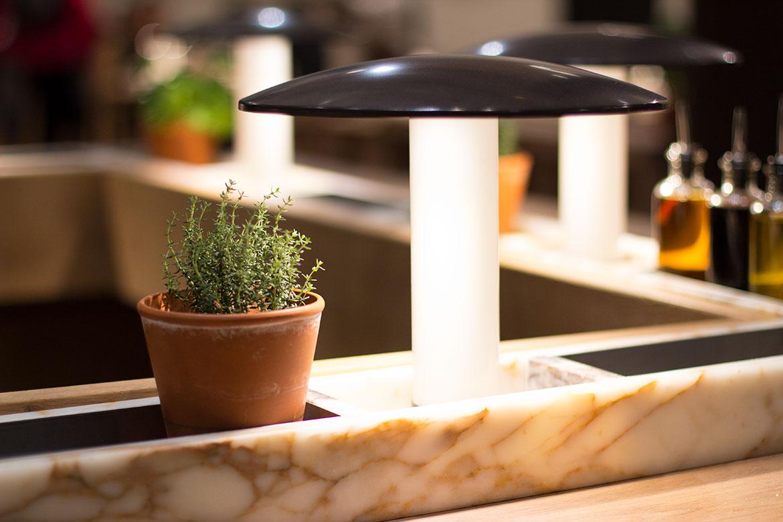 Vapiano Restaurant Déco lampe Champignon