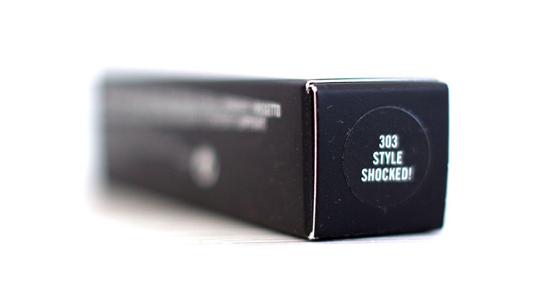 Emballage carton du Powder Kiss Lipstick MAC 303 Style Shocked !