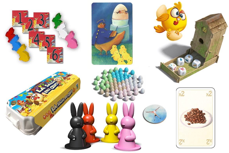 Sélection de jeux de société thème Pâques