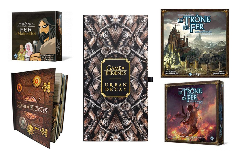 Game of Thrones Idées Cadeaux Produits Dérivés; Livre Pop Up, jeux de société, palette de maquillage