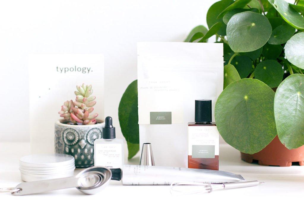 Typology marque de cosmétiques vegan