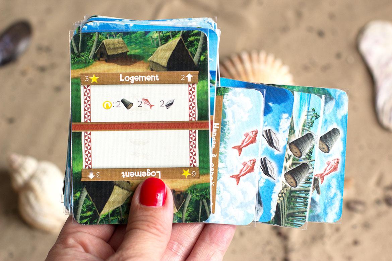Palm island jeu cartes ressources et logement