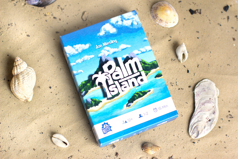 Palm Island Jeu de société  sur le sable entouré de coquillages
