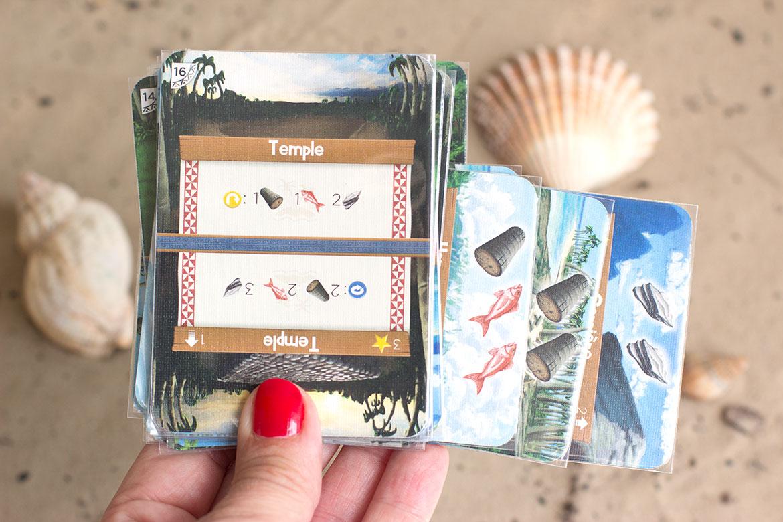 Palm island jeu cartes ressources et temple