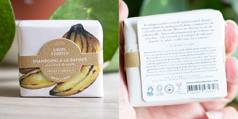 Shampoing Solide à la banane Savon Stories