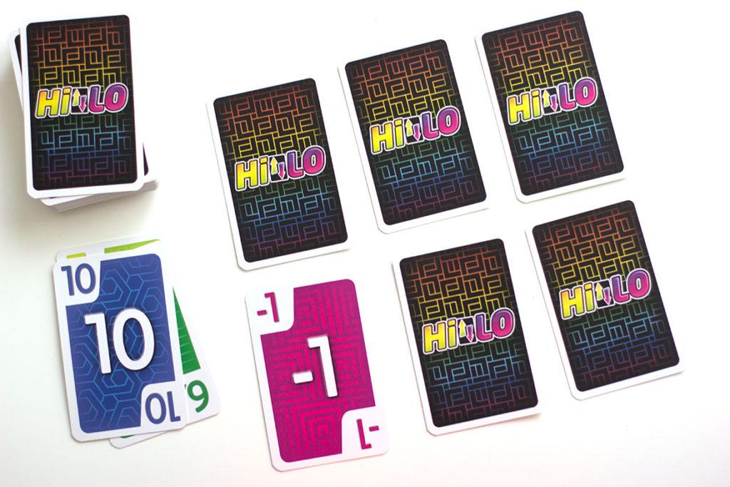 grille de 6 cartes , rangée défaussée