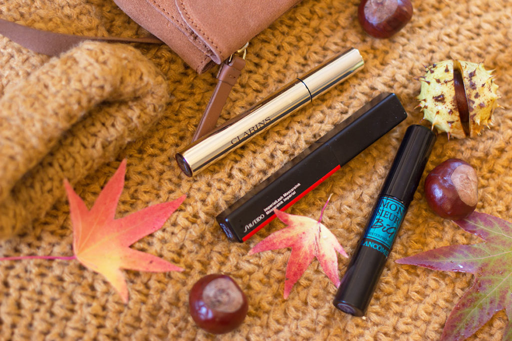 Mascaras - Clarins, Shiseido, Monsieur Big