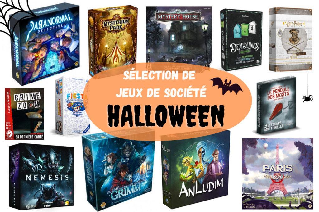 Sélection jeux de société Halloween 2020