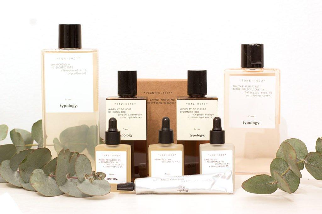 Typology produits cosmétiques