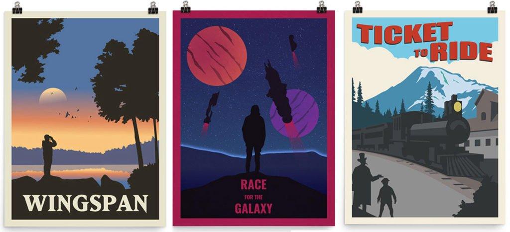 affiches jeux de société Vintage