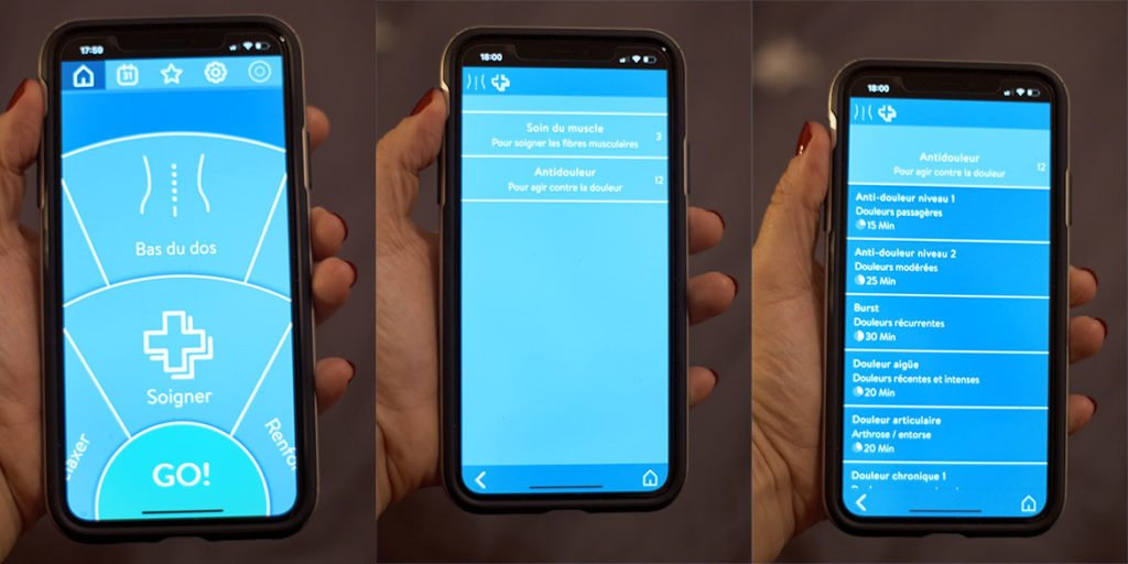 Utilisation application Bluetens