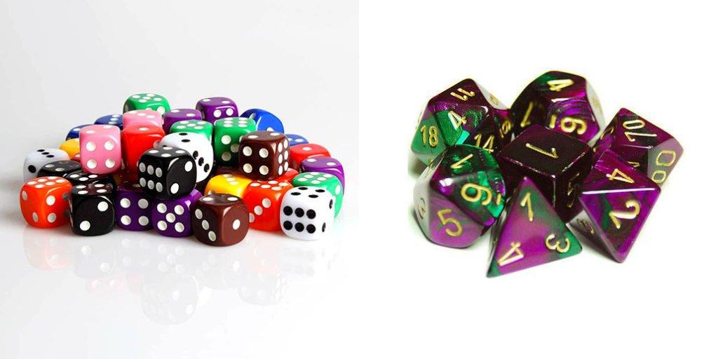 Idées cadeaux joueurs: dés