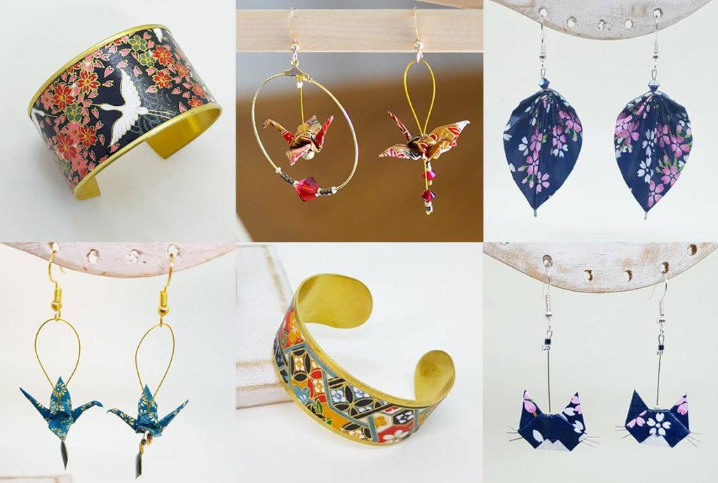 Bijoux en Macramé Origami original France