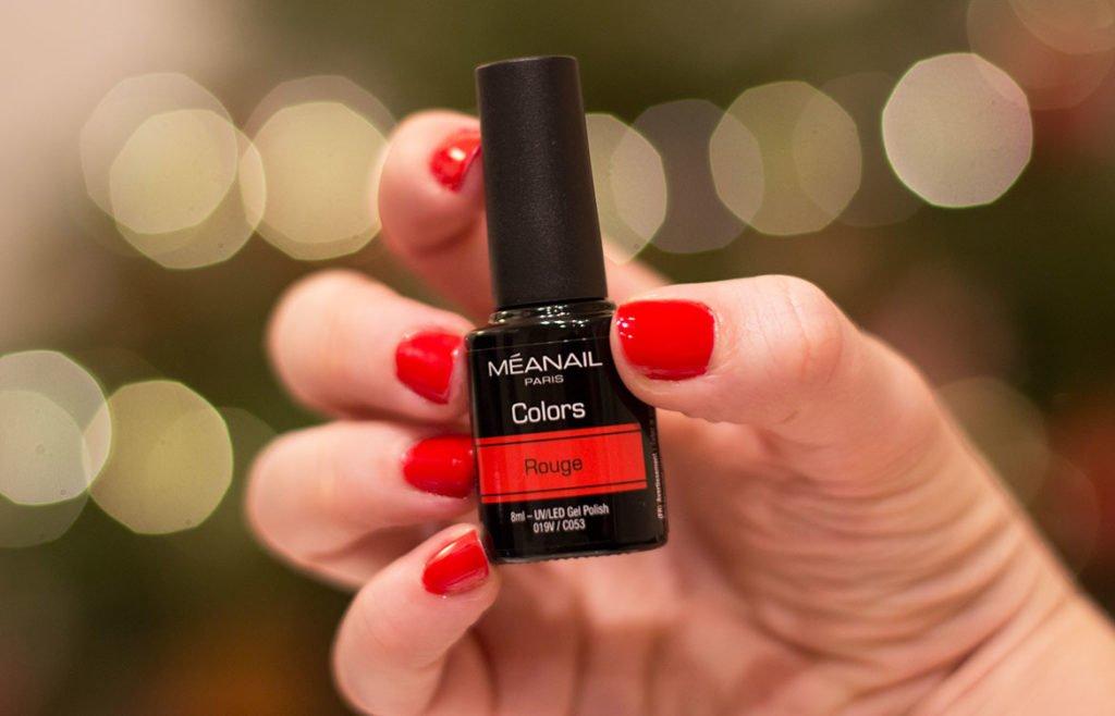 Vernis semi-permanent kit ruby rouge Méanail