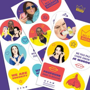 stickers féministes