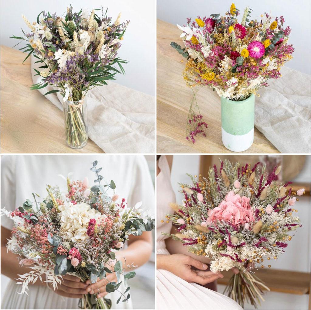 Bouquets de fleurs séchées chez Flowrette